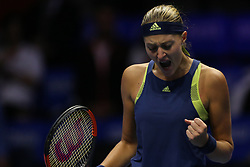February 3, 2018 - Saint Petersburg, Russia - Kristina Mladenovic of France reacts as he competes against Daria Kasatkina of Russia during the St. Petersburg Ladies Trophy ATP tennis tournament semi final match in St. Petersburg  (Credit Image: © Igor Russak/NurPhoto via ZUMA Press)