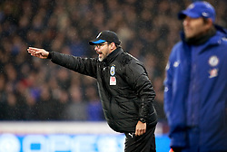 Huddersfield Town's manager David Wagner gestures on the sideline during the Premier League match at the John Smith's Stadium, Huddersfield.