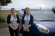 Health care assistant Roz Jewell (right) and registrar Tanya Wren pictured at the medical practice run by GPs Dr David Binnie and his wife Dr Jan Brooks on the the Inner Hebridean island of Colonsay on Scotland's west coast.  The island is in the council area of Argyll and Bute and has an area of 4,074 hectares (15.7 sq mi). Aligned on a south-west to north-east axis, it measures 8 miles (13 km) in length and reaches 3 miles (4.8 km) at its widest point, in 2019 it had a permanent population of 136 adults and children.