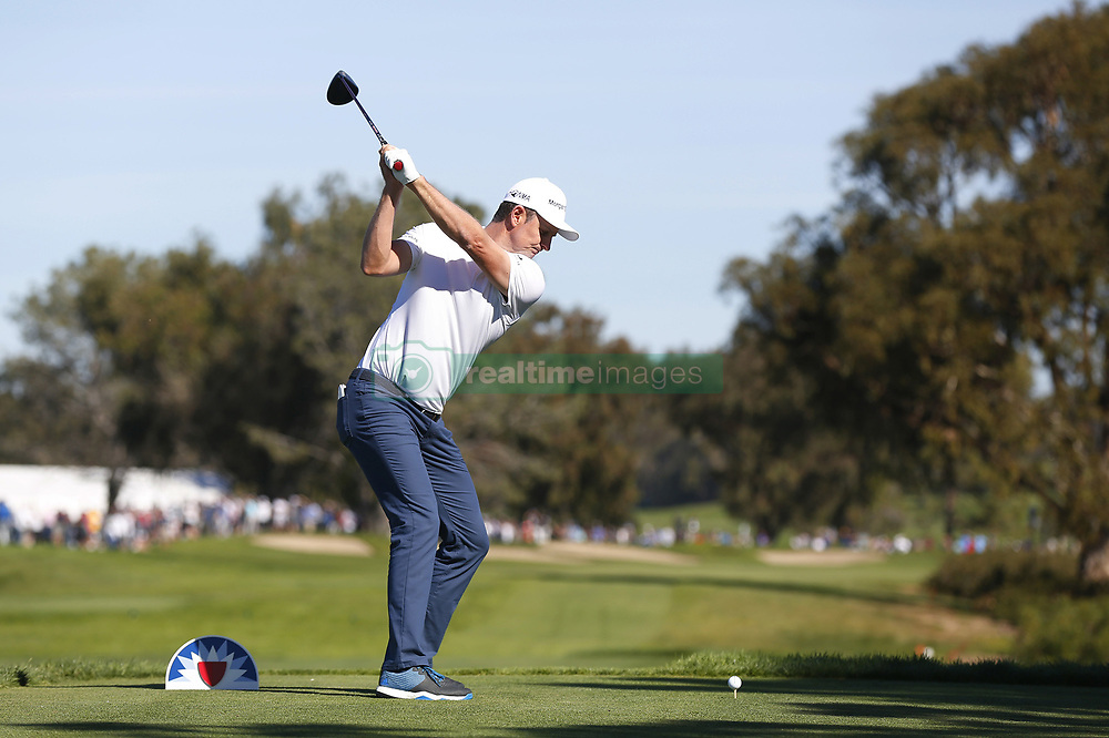 January 26, 2019 - San Diego, CA, USA - Justin Rose tees off on the 6th hole during the third round of the Farmers Insurance Open at the Torrey Pines Golf Course in San Diego on Saturday, Jan. 26, 2019. (Credit Image: © K.C. Alfred/San Diego Union-Tribune/TNS via ZUMA Wire)
