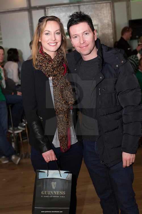 Repro Free: 15/03/2014 <br /> Kellie Fitzgibbon and Fergal Behan pictured at the Guinness Storehouse St. Patrick's Festival. The four day festival is showcasing some of Ireland's best music, food and rugby over the weekend including and the ultimate rugby hub with a live broadcast by Newstalk Off The Ball. Enjoy GUINNESS sensibly. Visit drinkaware.ie Picture Andres Poveda