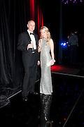 STEVEN SHEPPARD; KATARINA BORISOVA. Grey Goose Winter Ball to Benefit the Elton John AIDS Foundation. Battersea park. London. 29 October 2011. <br /> <br />  , -DO NOT ARCHIVE-© Copyright Photograph by Dafydd Jones. 248 Clapham Rd. London SW9 0PZ. Tel 0207 820 0771. www.dafjones.com.