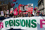 March 28th 2012. Demonstration organised by NUT (National Union of Teachers) to protest against changes to pensions and retirement age