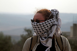 November 11, 2016 - Nablus, West Bank, Palestine - during clashes with Israeli security forces following a demonstration against the expropriation of Palestinian land by Israel on November 11, 2016 in the village of Kfar Qaddum, near Nablus, in the occupied West Bank. (Credit Image: © Mohammed Turabi/ImagesLive via ZUMA Wire)