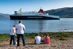 Ullapool ,Scotland, UK. 26th August 2021. Caledonian MacBrayne ferry MV Loch Seaforth arrives at Ullapool from Stornoway. Scotland's ageing ferries have been subject to regular problems throughout the summer with sailings disrupted or cancelled because ferries have been taken out of service for repairs. Iain Masterton/Alamy Live News.