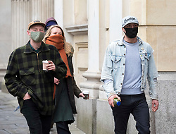 © Licensed to London News Pictures; 02/03/2021; Bristol, UK. (L-R) MILO PONSFORD, RHIAN GRAHAM, AND JAKE SKUSE of The Colston Four arrive at Bristol Crown Court for the first day of their trial. Defendants Rhian Graham, 29, Milo Ponsford, 25, Jake Skuse, 32, and Sage Willoughby, 21, have been charged with criminal damage in connection with damage to the statue of slave trader Edward Colston which was pulled down during a Black Lives Matter protest on June 7 2020 and then thrown into Bristol Harbour. Photo credit: Simon Chapman/LNP