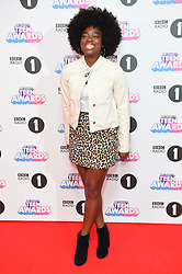Clara Amfo attending the BBC Radio 1 Teen Wards, at Wembley Arena, London. Picture date: Sunday October 22nd, 2017. Photo credit should read: Matt Crossick/ EMPICS Entertainment.