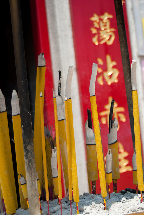 Incense candles at Tin Hau Temple on Stanley Island