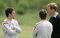 Photo: Paul Thomas.<br /> England Training Session. 01/06/2006.<br /> <br /> Prince William meets Michael Owen and Joe Cole (L).