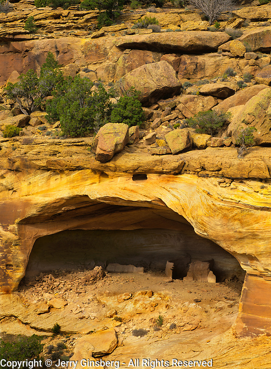 Massacre Cave in Canyon de Chelly National Monument on the Navajo Reservation in Arizona.