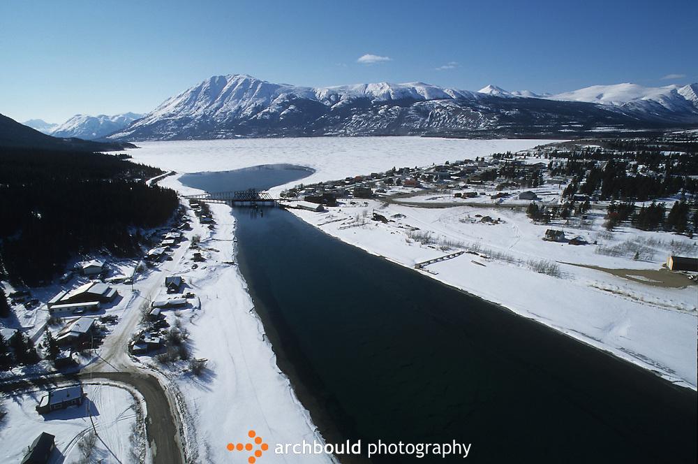 Carcross aerial photo