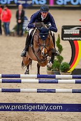 DEUSSER Daniel (GER), Calisto Blue<br /> Leipzig - Partner Pferd 2020<br /> Glas Strack Speed Cup<br /> Zeitspringprfg., international<br /> Höhe: 1.45 m<br /> 18. Januar 2020<br /> © www.sportfotos-lafrentz.de/Stefan Lafrentz