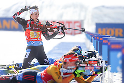 Schwaiger Julia of Austria competes during the IBU World Championships Biathlon 4x6km Relay Women competition on February 20, 2021 in Pokljuka, Slovenia. Photo by Vid Ponikvar / Sportida