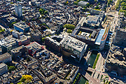 Nederland, Utrecht, Utrecht, 13-05-2019; centrum Utrecht met aan de Vredenburgkade muziekgebouw TivoliVredenburg.<br /> Utrecht city centre w concert hall.<br /> <br /> luchtfoto (toeslag op standard tarieven);<br /> aerial photo (additional fee required);<br /> copyright foto/photo Siebe Swart