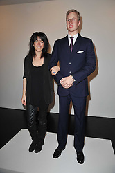 Artist JENNIFER RUBELL with a statue of Prince William at a private view of 'Engagement' an exhibition of new works by Jennifer Rubell held at the Stephen Friedman Gallery, 25-28 Old Burlington Street, London on 7th February 2011.