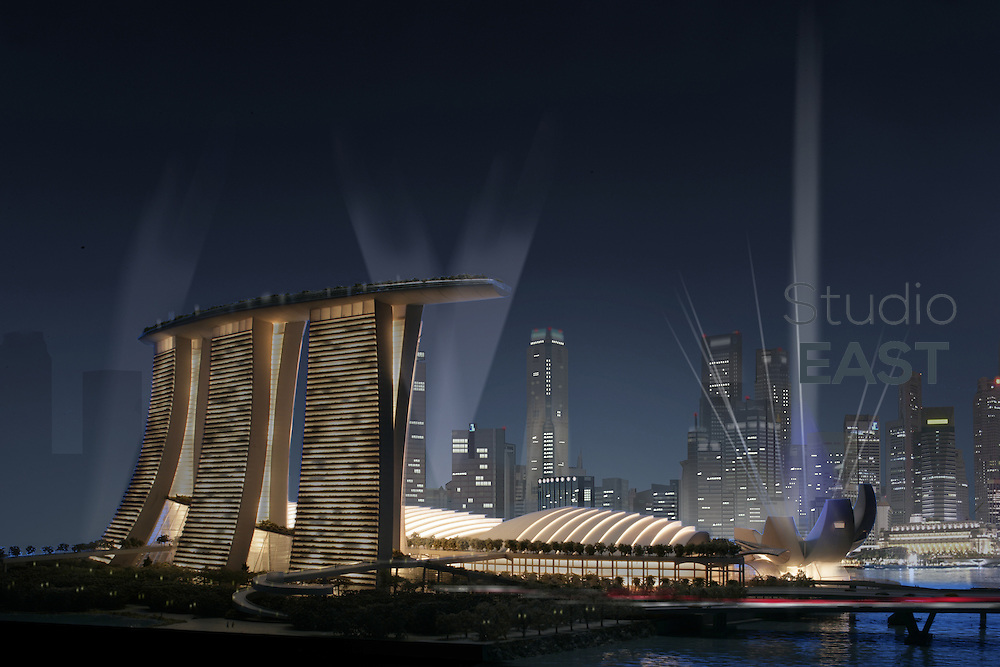 A computer-generated image of the future Sands Marina Bay casino in Singapore. Image by Sands