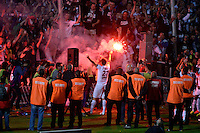 Supporters de Bordeaux  / Fumigenes  / Adieux Marc Planus - 09.05.2015 - Bordeaux / Nantes  - 36eme journee de Ligue 1<br />