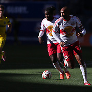Pegguy Luyindula  and Thierry Henry, (right), New York Red Bulls, in action during the New York Red Bulls Vs Columbus Crew, Major League Soccer regular season match at Red Bull Arena, Harrison, New Jersey. USA. 19th October 2014. Photo Tim Clayton