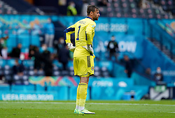 Scotland goalkeeper David Marshall stands dejected after conceding the second goal during the UEFA Euro 2020 Group D match at Hampden Park, Glasgow. Picture date: Monday June 14, 2021.