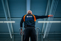 Referee Hans Oomes in action during the first league match in the corona lockdown between Sliedrecht Sport vs. Draisma Dynamo on January 09, 2021 in Sliedrecht.