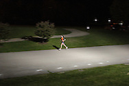 Augusta, New Jersey - A lone female runner competes in 6-, 12-, 24- and 72-hour races during the 3 Days at the Fair races at Sussex County Fairgrounds on May 12, 2012.