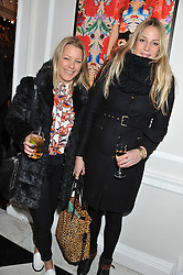 Left to right, DAVINA HARBORD and FREDERICA LOVELL-PANK at a party to celebrate thelaunch of Alice Temperley's flagship store Temperley, Bruton Street, London on 6th December 2012.