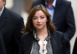 © Licensed to London News Pictures. 27.02.12 London, UK..Singer Charlotte Church arriving at the Royal Courts of Justice for the formal settlement of phone-hacking damages claim against News Group Newspapers..Photo credit : Simon Jacobs/LNP