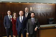 SHOT 1/8/19 12:13:24 PM - Bachus & Schanker LLC lawyers James Olsen, Maaren Johnson, J. Kyle Bachus, Darin Schanker and Andrew Quisenberry in their downtown Denver, Co. offices. The law firm specializes in car accidents, personal injury cases, consumer rights, class action suits and much more. (Photo by Marc Piscotty / © 2018)