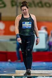 Melissa Boekelman in action on the shot put during AA Drink Dutch Athletics Championship Indoor on 20 February 2021 in Apeldoorn.