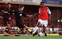 Patrick Vieira (Arsenal) Matthew Oakley  (Southampton). Arsenal 1: 0 Southampton, F.A.Carling Premiership, 2/12/2000. Credit Colorsport / Matthew Impey