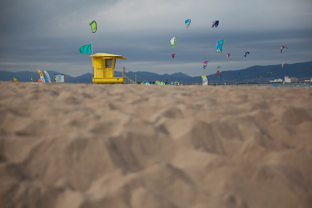 Lifeguard post in Sant Pere Pescador beach, Girona, Catalonia, Spain.