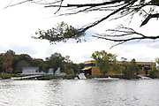 Brighton, USA,   Community Rowing Inc. Corporate rowing event, held at the CRI. Harry Parker Boathouse, Charles River, Boston, Massachusetts<br /> Wednesday   14/10/2009  [Mandatory Credit Peter Spurrier Intersport Images]