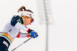 February 9, 2019 - Lahtis, FINLAND - 190209  Maiken Caspersen Falla of Norway competes in the women's sprint qualification during the FIS Cross-Country World Cup on February 9, 2019 in Lahti..Photo: Johanna Lundberg / BILDBYRN / 135946 (Credit Image: © Johanna Lundberg/Bildbyran via ZUMA Press)