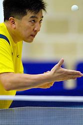 Hugo Hoyama durante treino da delegação brasileira de tenis de mesa, no Pan-Americano de Guadalarrara 2011. FOTO: Jefferson Bernardes/Preview.com