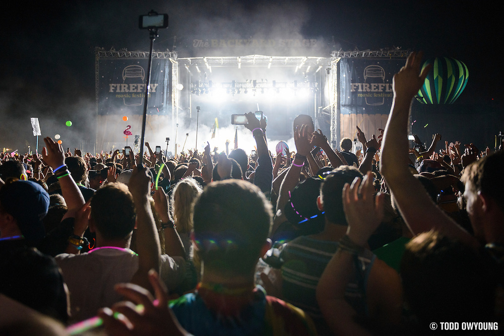 Attendees at the Firefly Music Festival in Dover, DE on June 18-20, 2015.