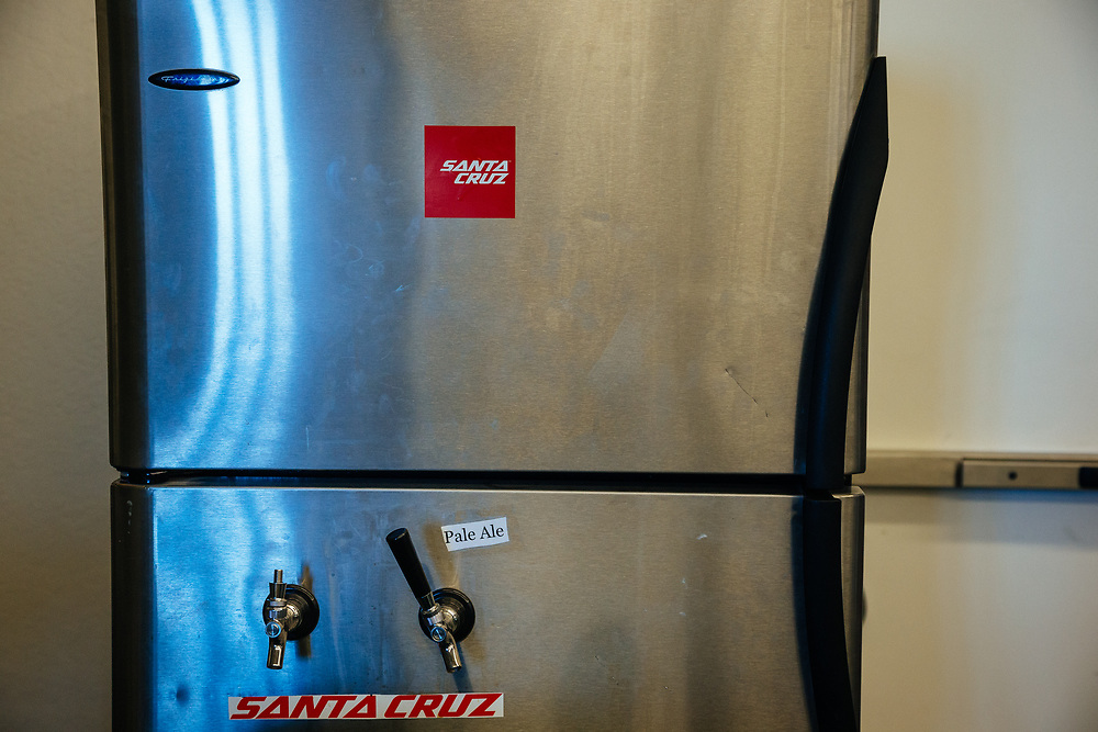 The beer fridge.