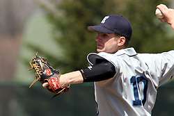 14 April 2013:  Brian Marquis during an NCAA division 3 College Conference of Illinois and Wisconsin (CCIW) Baseball game between the Elmhurst Bluejays and the Illinois Wesleyan Titans in Jack Horenberger Stadium, Bloomington IL