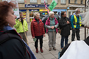 Extinction Rebellion Stroud Earth March for Climate Justice leaving Stroud to Circencester. RED Flag band playing. April 2019<br /><br />copyright © Nigel Dickinson<br />www.nigeldickinson.com<br /><br />No unauthorised use will be prosecuted<br /><br />No image may be used, exhibited, published, shared online or otherwise, in any way whatsoever without the express written permission of the copyright holder Nigel Dickinson<br /><br />nigeldickinson@mac.com<br />UK+447756164033<br />FR+33612133170