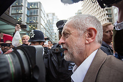 © Licensed to London News Pictures. 12/07/2016. London, UK. Leader of the Labour Party JEREMY CORBYN arrives at Labour HQ for a National Executive Committee meeting to decide if the Labour leader is automatically included in the ballot. Photo credit : Tom Nicholson/LNP