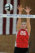 Amherst Steele High School vs Elyria High School varsity volleyball on October 24, 2013. Images © David Richard and may not be copied, posted, published or printed without permission.
