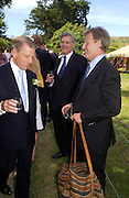 James, Robert and Edward Fox. Marriage of Emilia Fox to Jared Harris. St. Michael's and All Angels. Steeple. Nr. Wareham. Dorset. 16 July 2005. ONE TIME USE ONLY - DO NOT ARCHIVE  © Copyright Photograph by Dafydd Jones 66 Stockwell Park Rd. London SW9 0DA Tel 020 7733 0108 www.dafjones.com