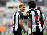 Football - 2021 / 2022 - Pre-Season Friendly - Newcastle United vs Norwich City - St James Park - Saturday 7th August 2021<br /> <br /> Matt Ritchie of Newcastle United celebrates scoring the opening goal to make it 1-0 to Newcastle<br /> <br /> Credit: COLORSPORT/Bruce White