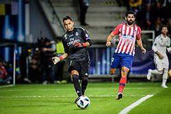 August 15, 2018 - Tallinn, Estonia - Keylor Navas of FC Real Madrid in action at UEFA Super Cup 2018 in Tallinn..The UEFA Super Cup 2018 was played between Real Madrid and Atletico Madrid. Atletico Madrid won the match 4-2 during extra time after and took the trophy after drawing at 2-2 during the first 90 minute of game play. (Credit Image: © Hendrik Osula/SOPA Images via ZUMA Wire)