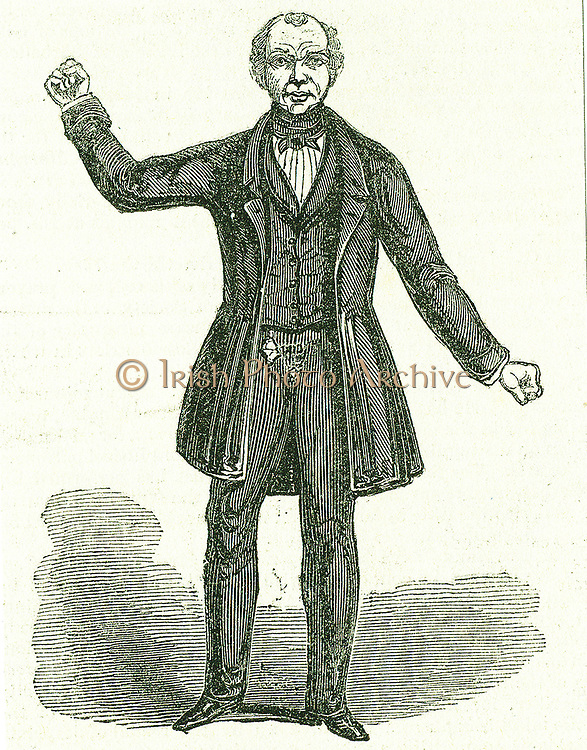 Feargus O'Connor (1795-1855) Irish Chartist leader and advocate of Irish rights. Organised the Chartist meeting on Kennington Common, London, 1848. Engraving, London, 1844.