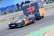 De Jumbo Racedagen, driven by Max Verstappen op Circuit Zandvoort. / The Jumbo Race Days, driven by Max Verstappen at Circuit Zandvoort.<br /> <br /> Op de foto / On the photo:  Max Verstappen in actie tijdens de Caravanrace