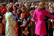 Her Majesty the queen and members of the royal family celebrate Saturday 29 April 2006 Queensday in the province flevoland in the cities  Zeewolde and almere.<br /> <br /> Hare Majesteit de Koningin en leden van de Koninklijke Familie vieren zaterdag 29 april 2006 Koninginnedag mee in de provincie Flevoland en wel in Zeewolde en Almere.<br /> <br /> On the Photo / Op dce foto: Princess Annette and Princes Aimee walking through the streets of Almere / Princes Anette en Princes Aimee loopen door de straat van Almere