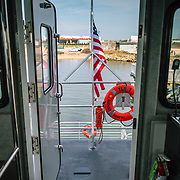 Atlantic, Atlantic Pioneer, Blount Boats, Christening, Congressman, Crew Transfer Vessel, Deepwater Wind, Donadio, Fast Ferry, Govenor, Jobs, Offshore Wind Farm, Quonsett Point, Rhode Island, Senator, RI Business, Family Business, Jobs, Economy, Firsts