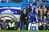 Antonio Conte, the Chelsea manager shouting at Ngolo Kante of Chelsea.Premier league match, Chelsea v Arsenal at Stamford Bridge in London on Saturday 4th February 2017.<br /> pic by John Patrick Fletcher, Andrew Orchard sports photography.