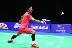 April 28, 2018 - Wuhan, Wuhan, China - Wuhan, CHINA-28th April 2018: Chinese badminton player Chen Long competes with Indian badminton player Prannoy Haseena Sunil Kumar at 2018 Badminton Asia Championships in Wuhan, central China's Hubei Province, April 28th, 2018. (Credit Image: © SIPA Asia via ZUMA Wire)