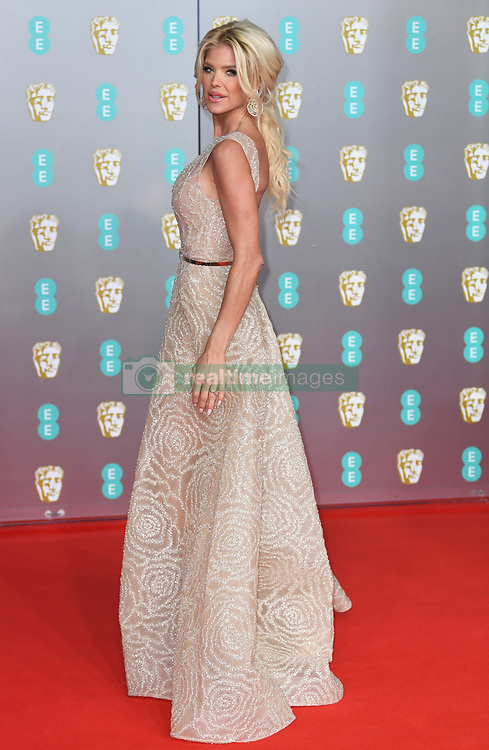 Victoria Silvstedt attending the 73rd British Academy Film Awards held at the Royal Albert Hall, London. Photo credit should read: Doug Peters/EMPICS Entertainment